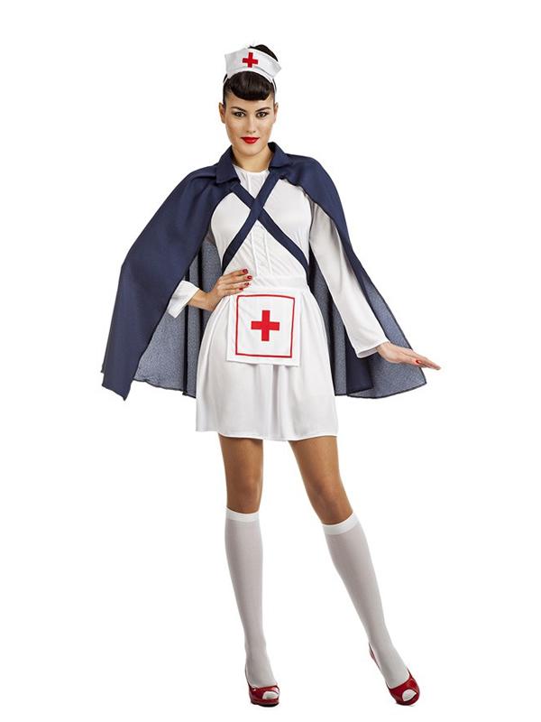 disfraz de enfermera con capa mujer