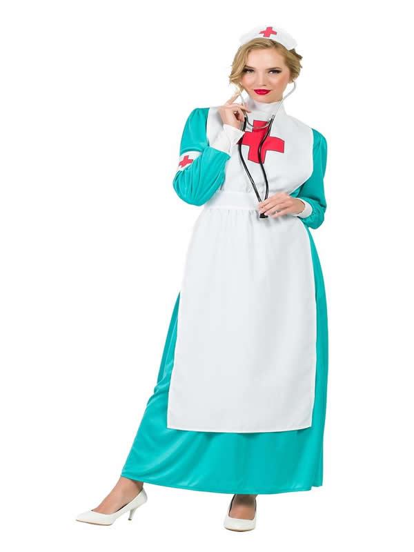 disfraz de enfermera larga mujer