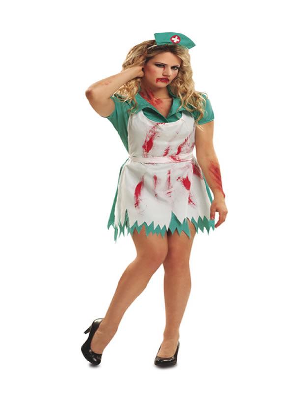 disfraz de enfermera sangrienta mujer