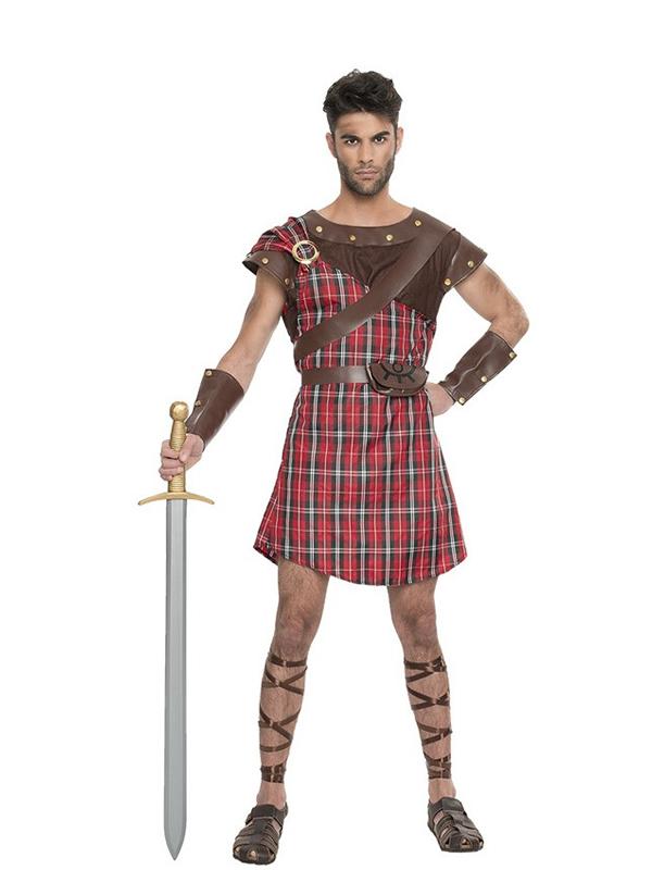 disfraz de escoces rojo para hombre