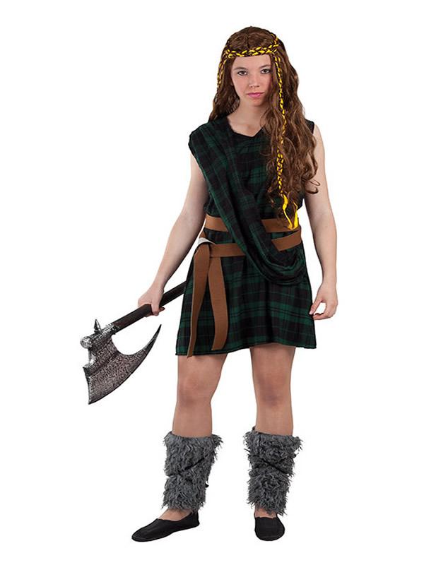 disfraz de escocesa verde para mujer