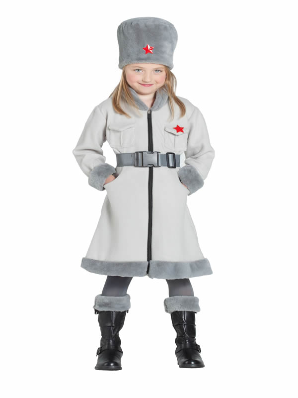 disfraz de espia ruso para niña