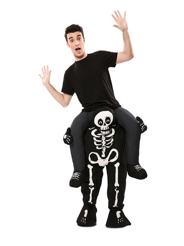 disfraz de esqueleto a hombros hombre