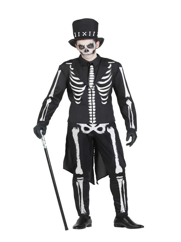 disfraz de esqueleto chaque hombre