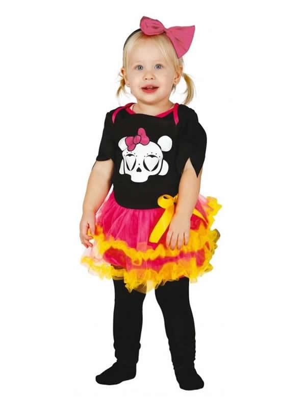 disfraz de esqueleto colorido bebe