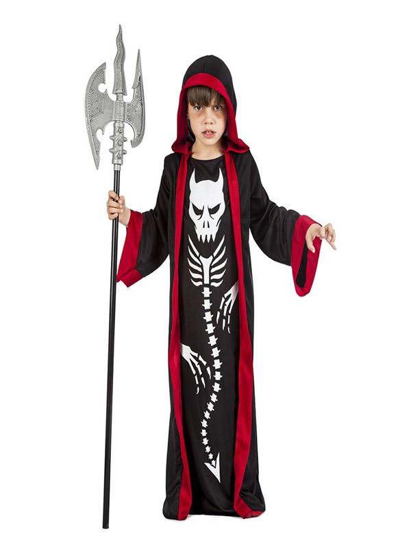 disfraz de esqueleto demonio niño