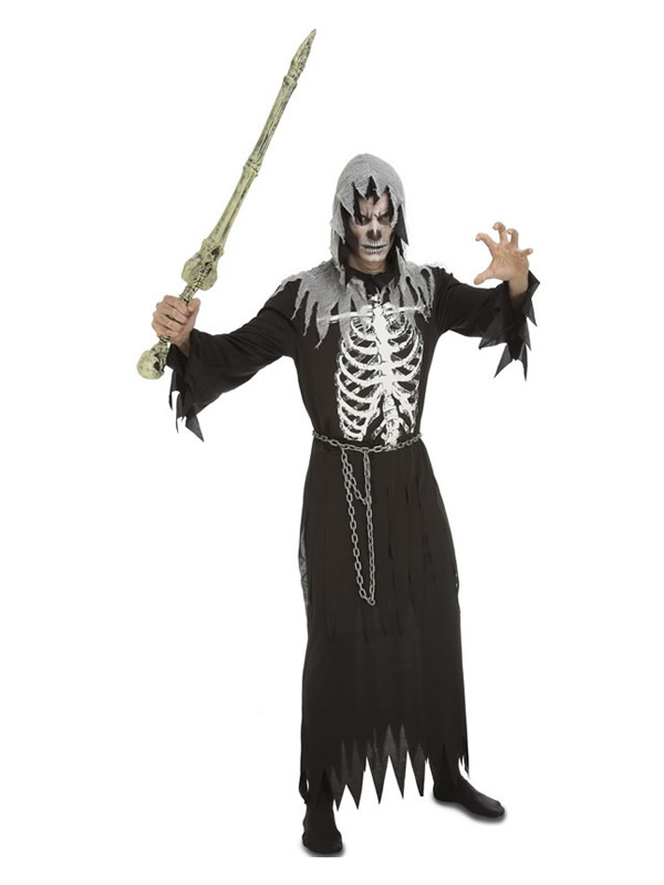 disfraz de esqueleto ejecutor para hombre