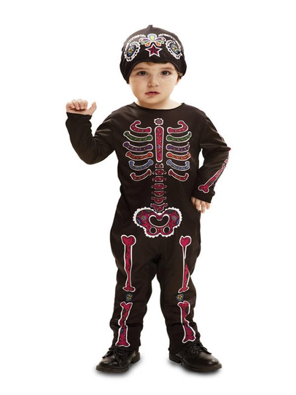 disfraz de esqueleto para bebe y niño
