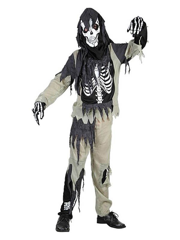 disfraz de esqueleto roto para niño