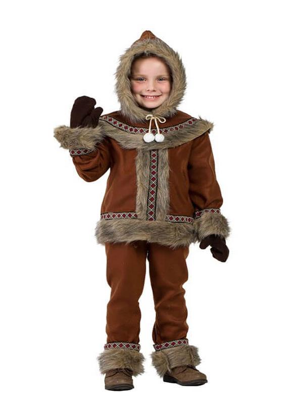 disfraz de esquimal marron para niño