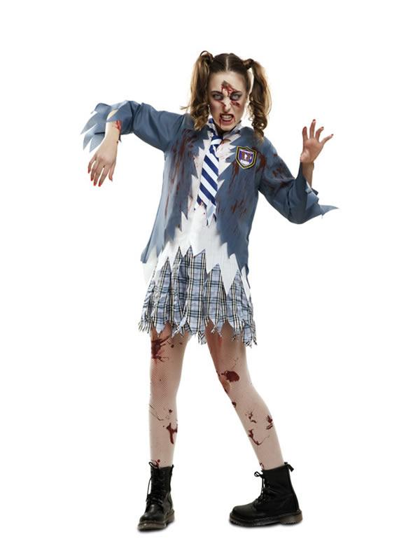 disfraz de estudiante zombie para mujer