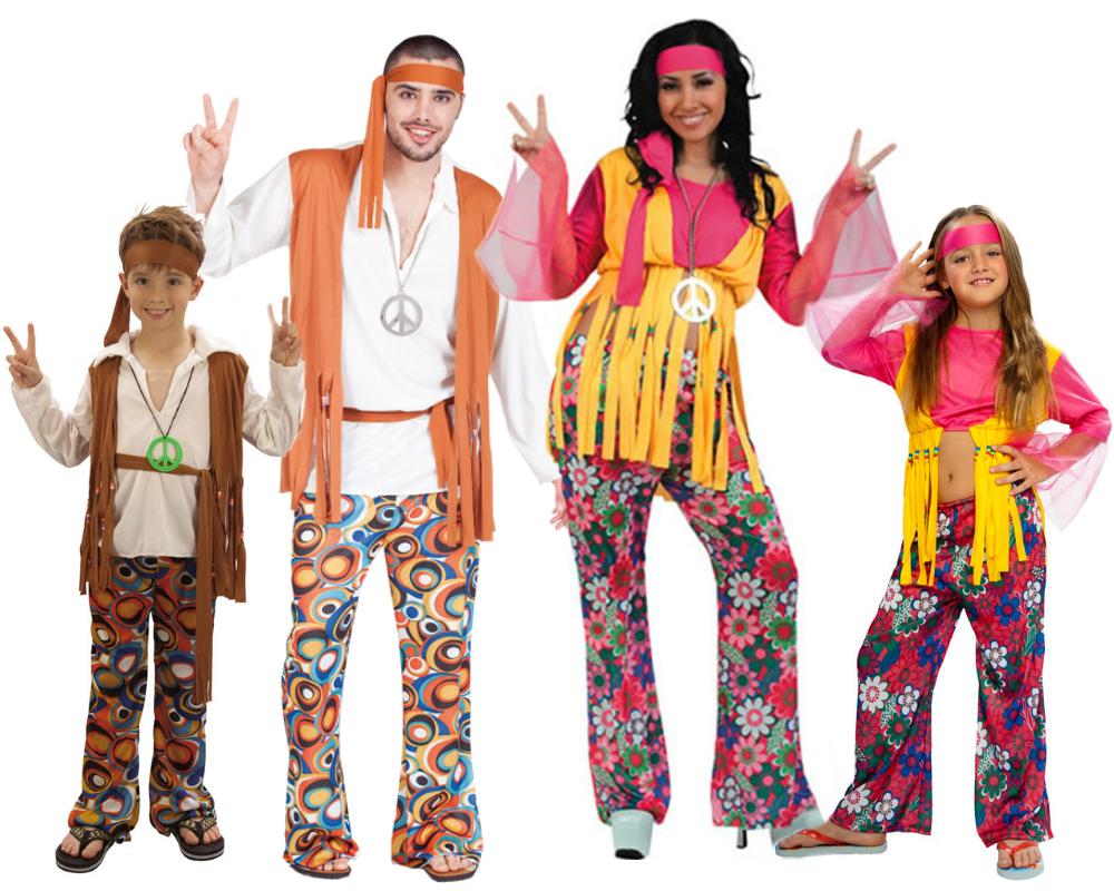 Disfraces de hippies infantiles disfraces de rockeros aos for Disfraces de los anos 60