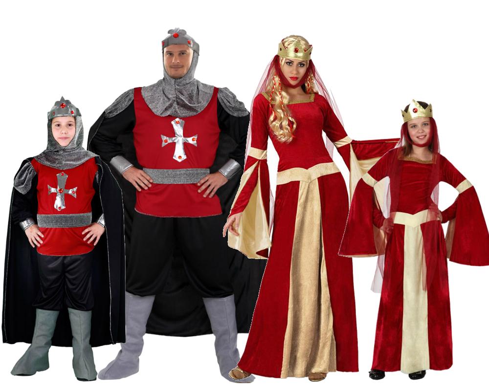 Disfraz de familia y grupo de medievales comprar barato - Disfraces en familia ...