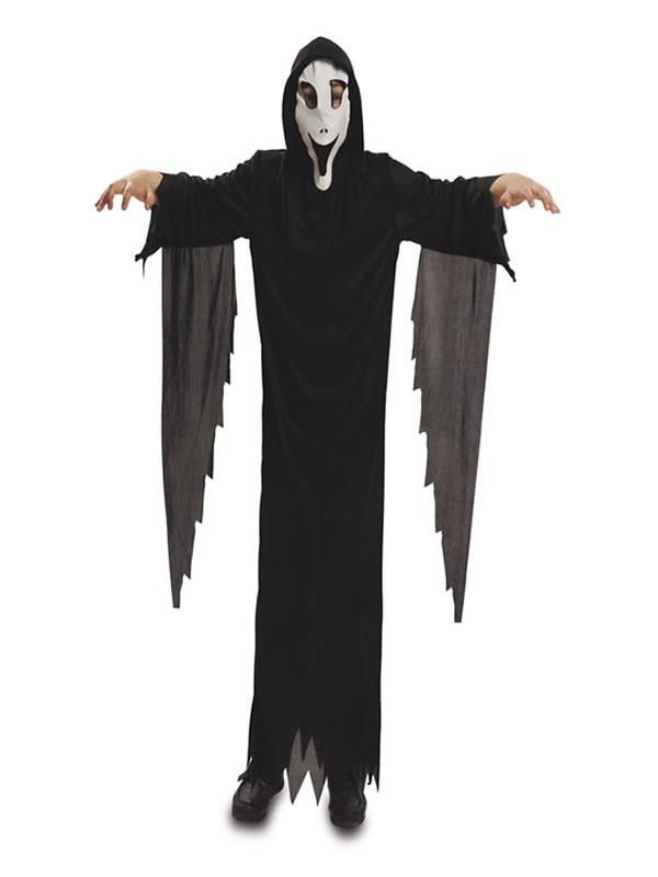 disfraz de fantasma scream con mascara para niño