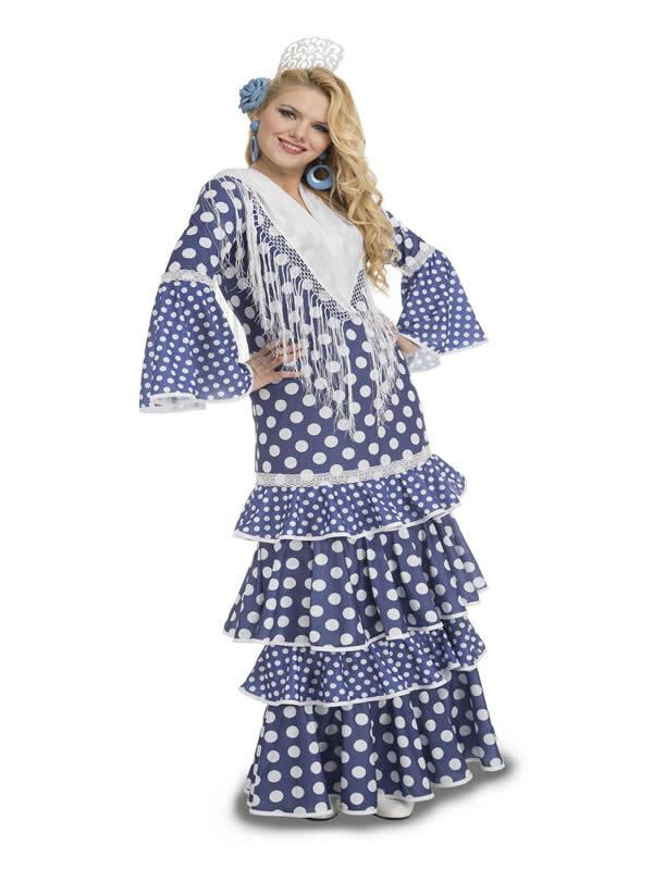 disfraz de flamenca alvero azul mujer