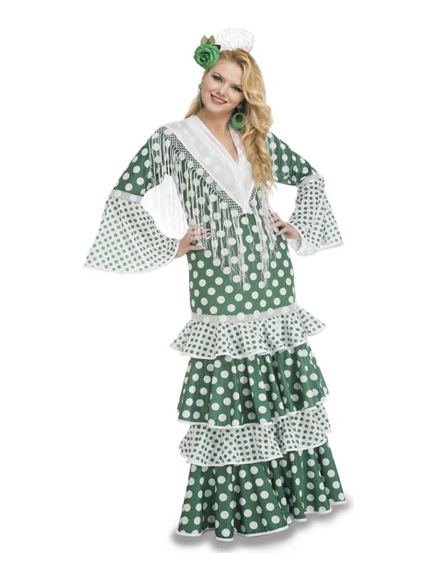 disfraz de flamenca feria verde mujer