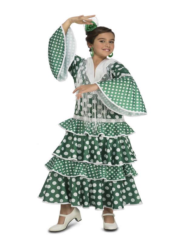 disfraz de flamenca giralda verde niña