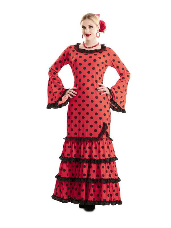 disfraz de flamenca roja lunares mujer