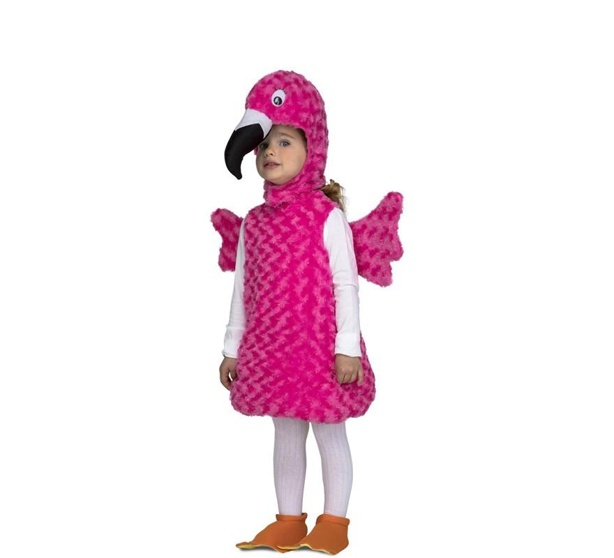 disfraz de flamenco peluche para niña