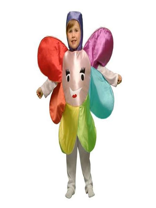 disfraz de flor multicolor niña