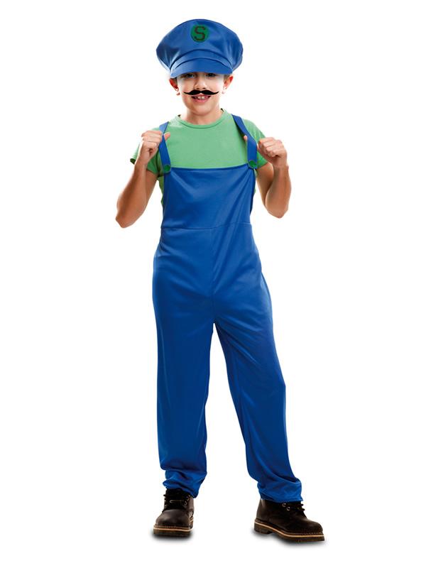 disfraz de fontanero luigi para niño