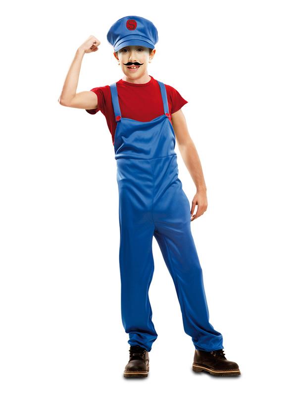 disfraz de fontanero mario bross para nino mom46300 0 - Ideas para disfrazarse de Disfraces en Pareja Infantiles