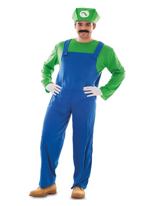 disfraz de fontanero verde luigi hombre