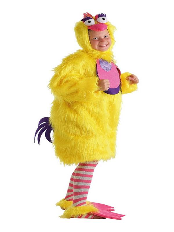 disfraz de gallina de peluche niña