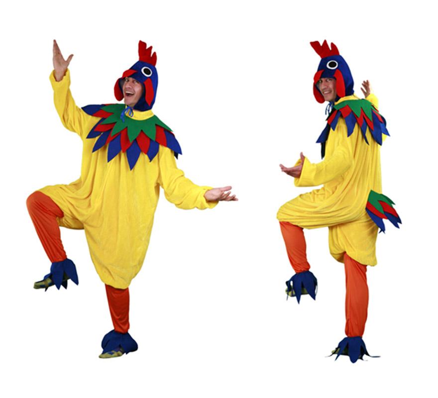 disfraz de gallo amarillo para hombre
