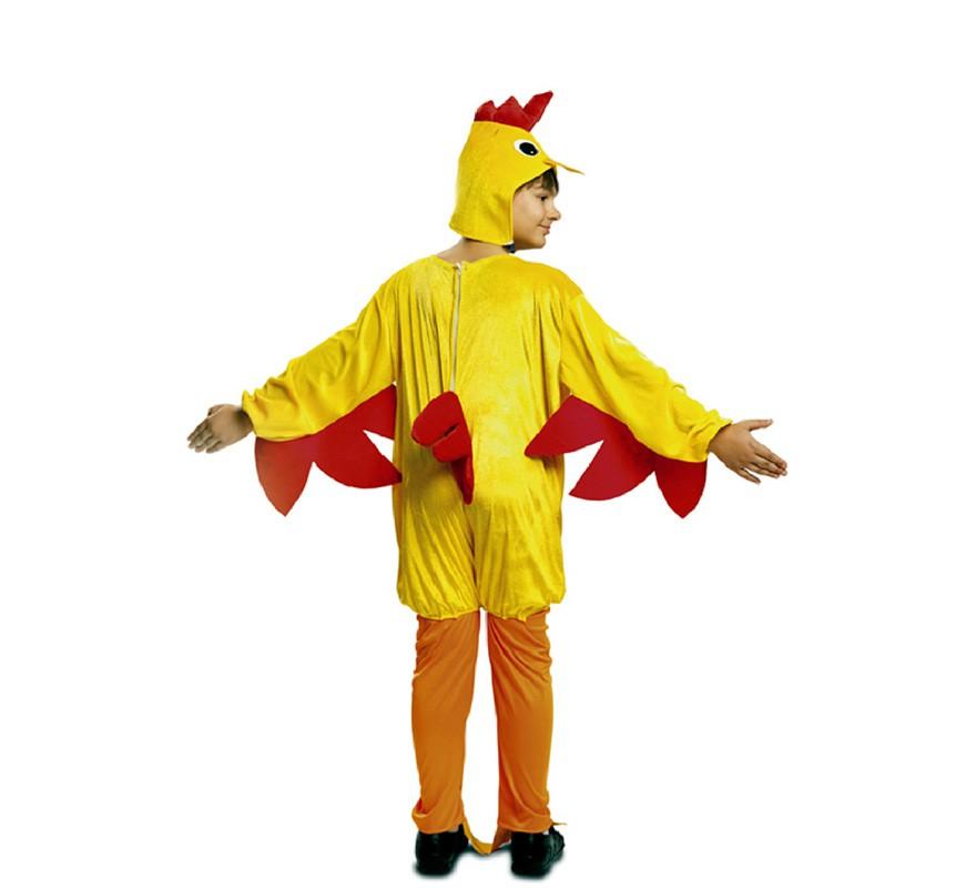 disfraz de gallo amarillo para niño