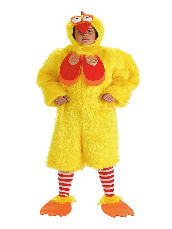 disfraz de gallo peluche niño