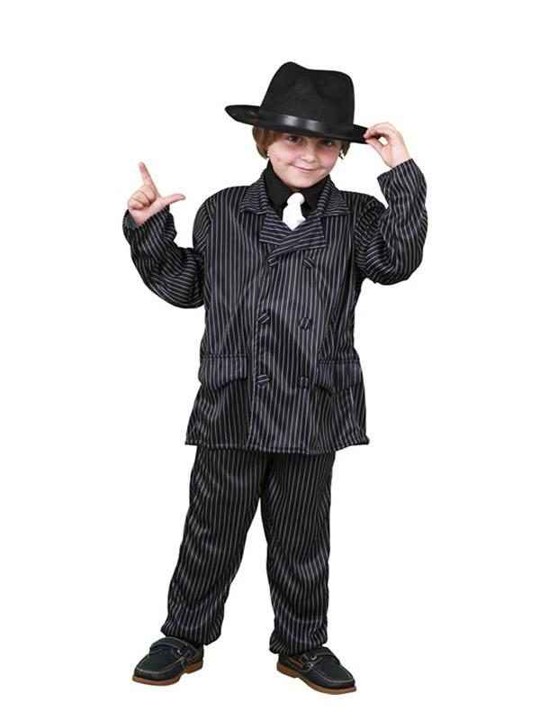 disfraz de ganster para niño