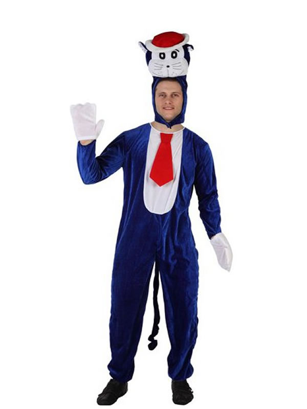 disfraz de gato doraimon azul