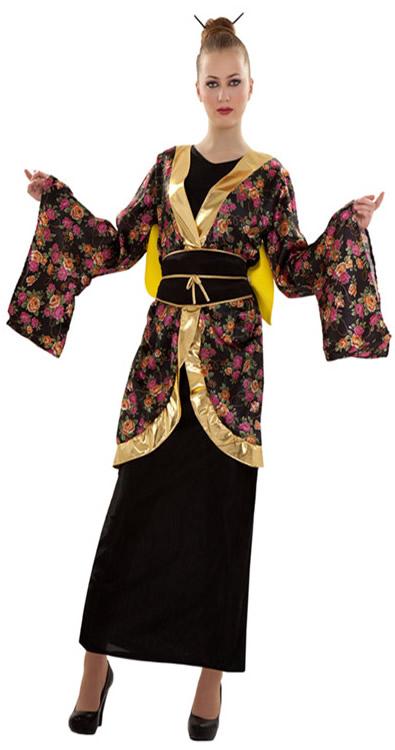 disfraz de gheisa estampado mujer