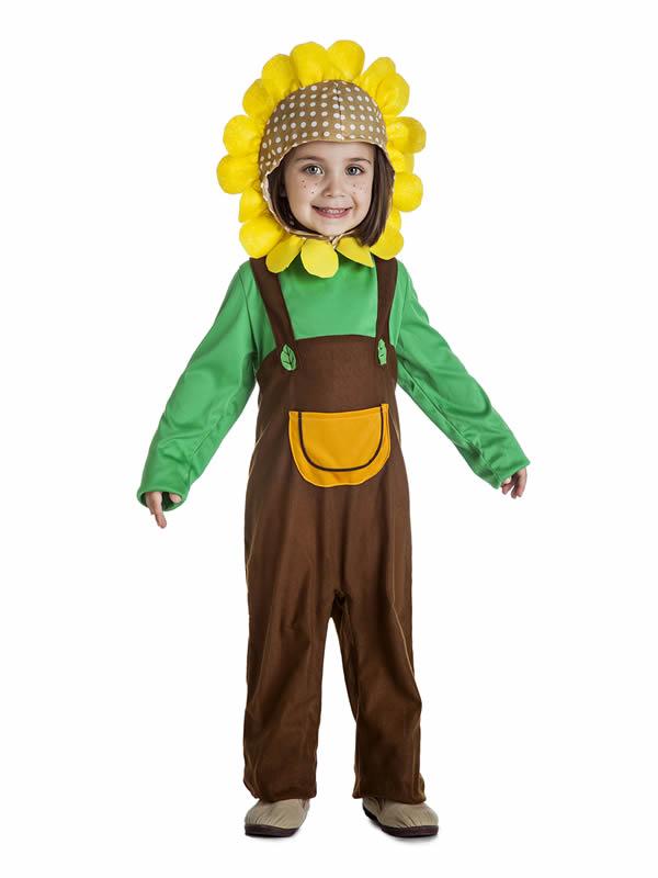 disfraz de girasol para niño