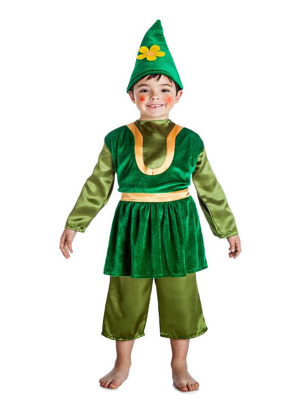 disfraz de gnomo verde niño