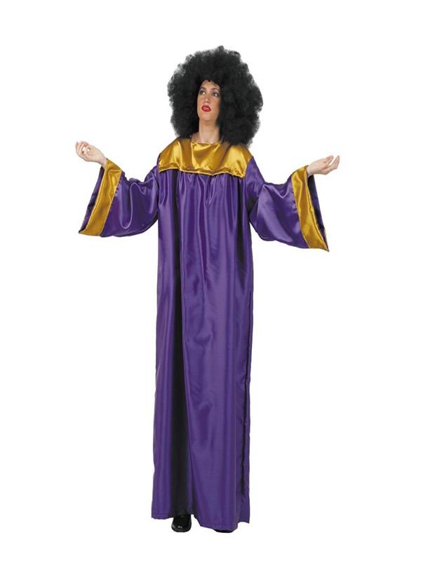 disfraz de gospel morado para adulto