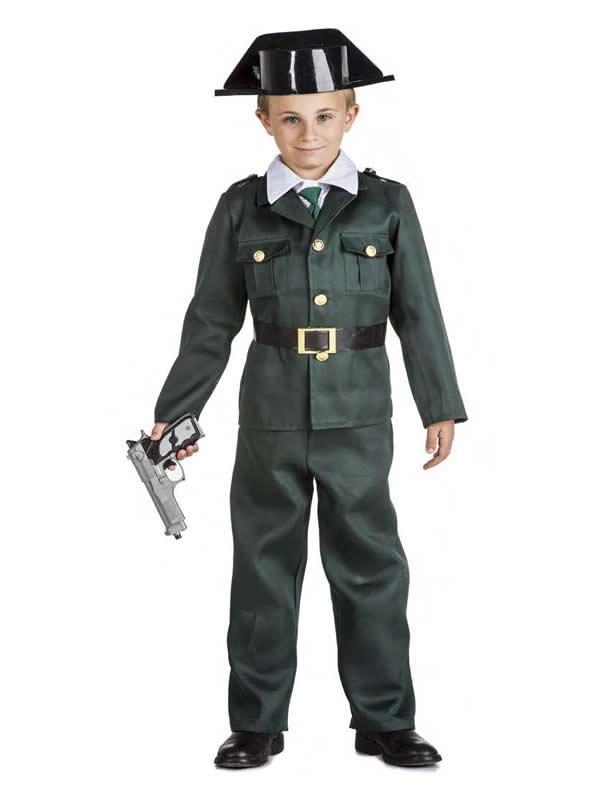disfraz de guardia civil para niño
