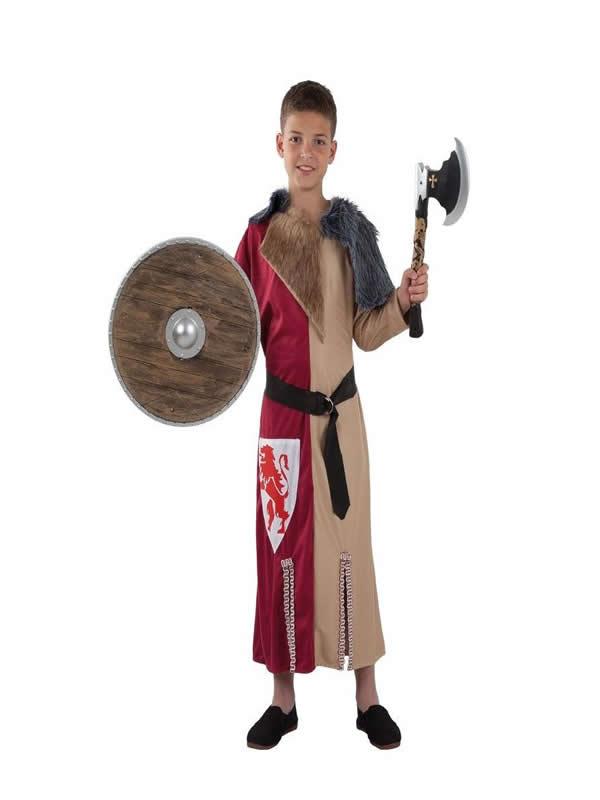 disfraz de guerrero medieval niño