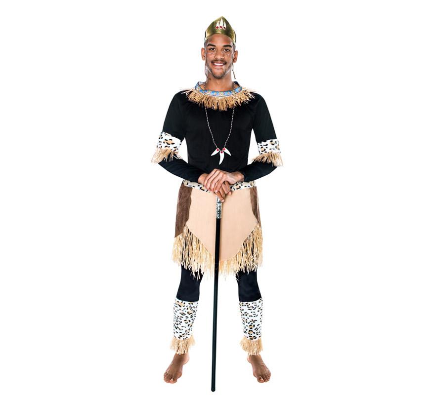 Disfraz de guerrero zulu hombre egl65068 comprar barato - Disfraces del mundo ...