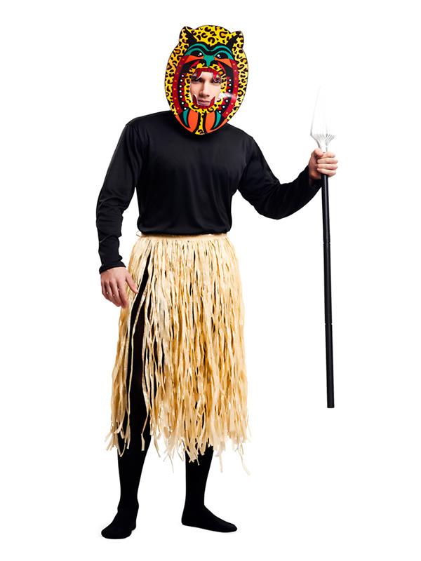 disfraz de guerrero zulu para hombre