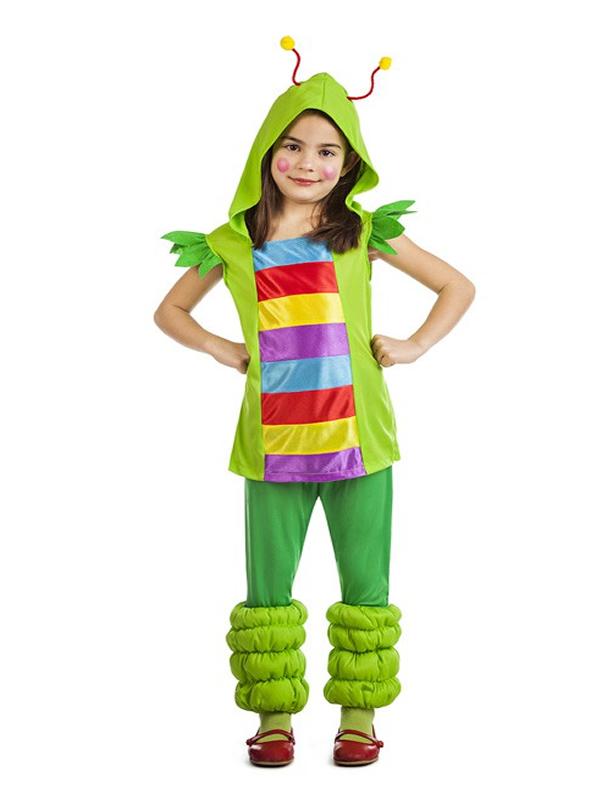 disfraz de gusanita multicolor nina k3569 - Los 10 mejores disfraces de animales infantiles para comprar