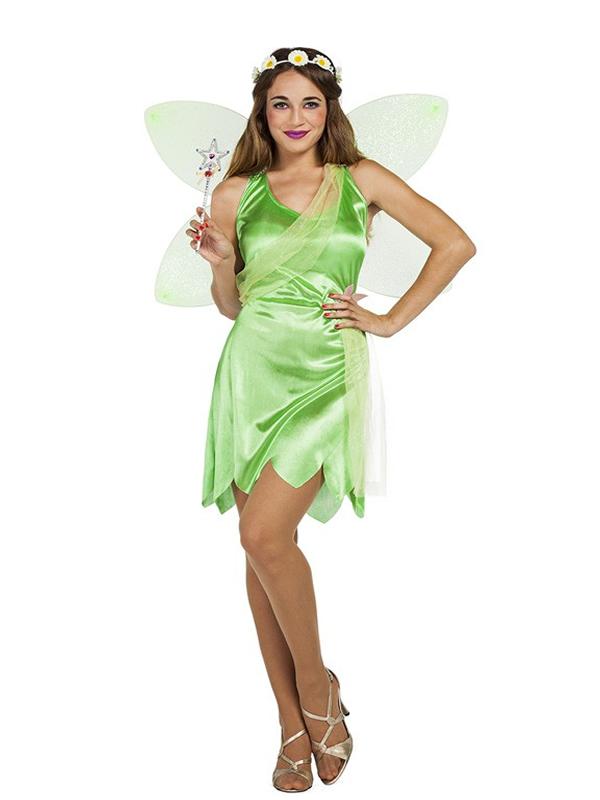 disfraz de hada campanilla verde mujer