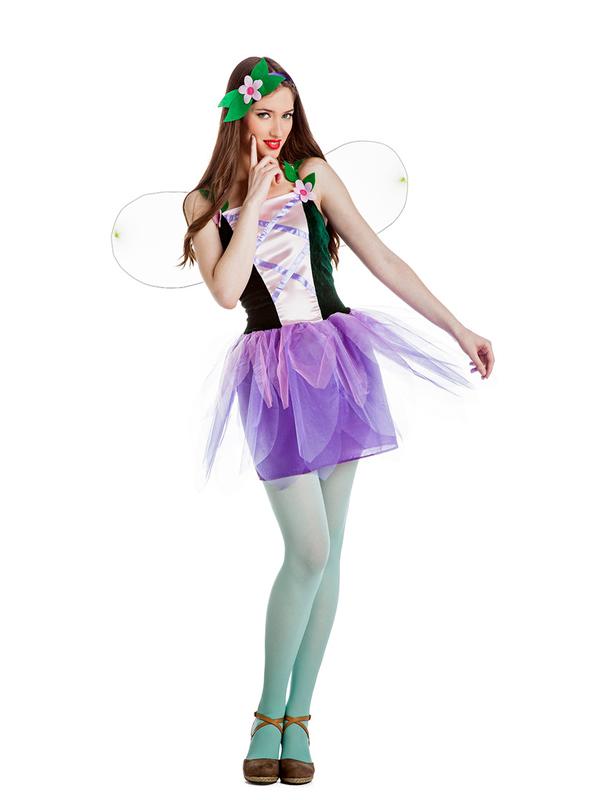 disfraz de hada flores mujer