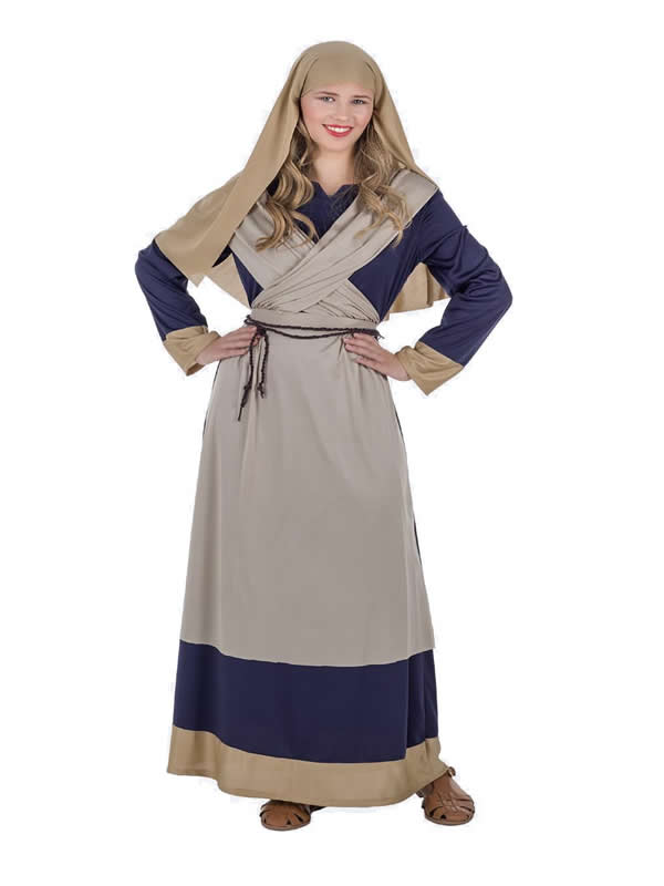 disfraz de hebrea azul para mujer