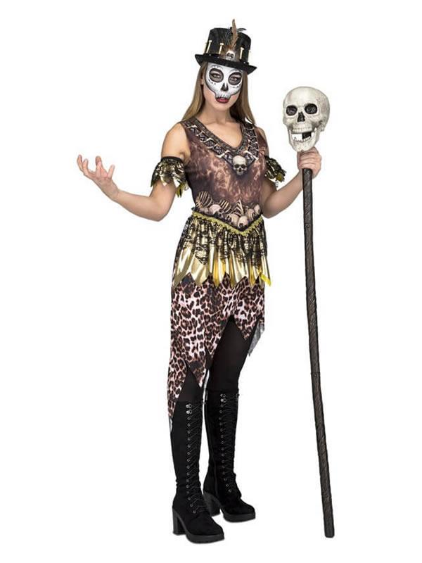 disfraz de hechicera canibal para mujer