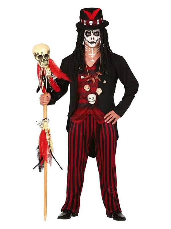 disfraz de hechicero vudu para hombre