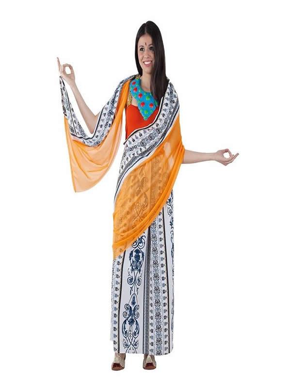 disfraz de hindu mujer
