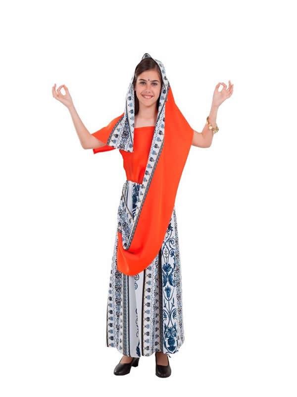 disfraz de hindu niña
