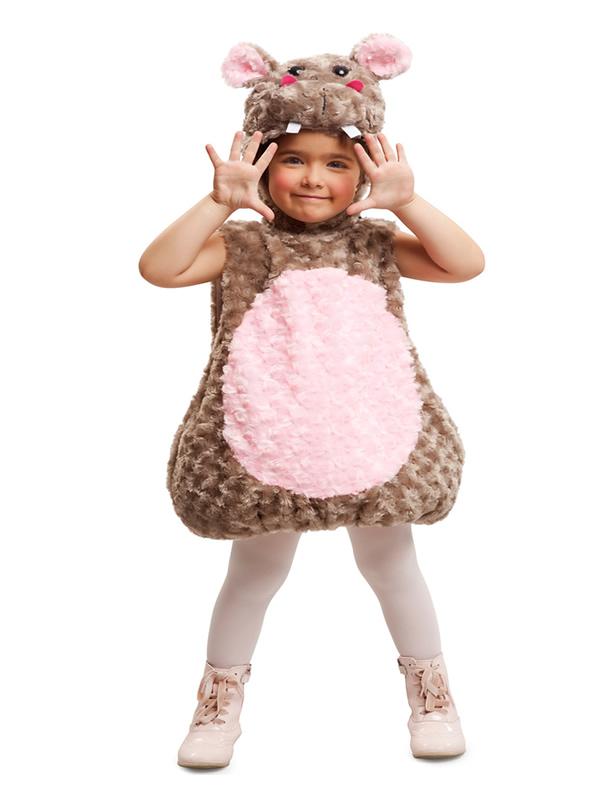 disfraz de hipopotamo de peluche niña